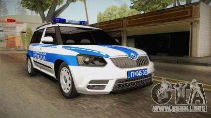 Skoda Yeti Serbian Traffic Police para GTA San Andreas