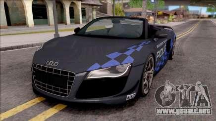 Audi R8 High Speed Police para GTA San Andreas
