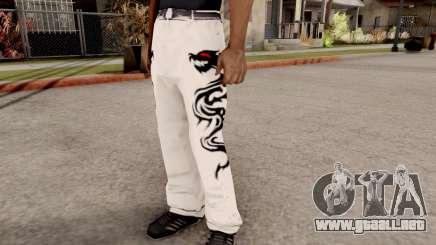 Dragon Style Pants para GTA San Andreas