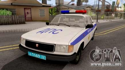 GAZ-31029 DPS de la Policía para GTA San Andreas