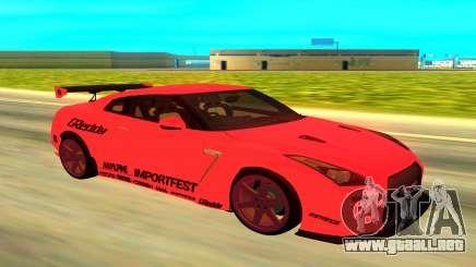 Nissan GTR R35 rojo para GTA San Andreas