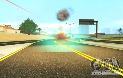 Una nueva visión para los rifles y las bazucas para GTA San Andreas sucesivamente de pantalla
