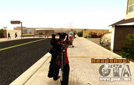 Una nueva visión para los rifles y las bazucas para GTA San Andreas tercera pantalla