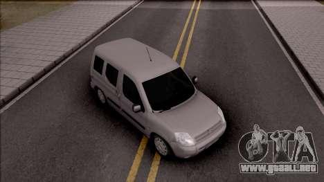 Citroen Berlingo Mk2 para la visión correcta GTA San Andreas