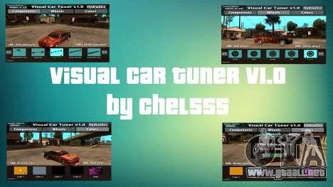 Visual Car Tuner v1.0 para GTA San Andreas
