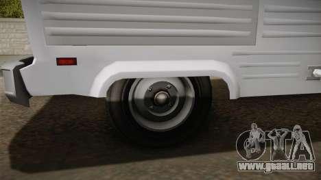 GTA 5 Zirconium Journey Cleaner IVF para GTA San Andreas vista hacia atrás