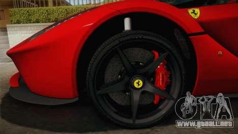 Ferrari LaFerrari para visión interna GTA San Andreas