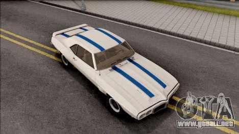 Pontiac Firebird Trans Am Coupe 1969 para GTA San Andreas