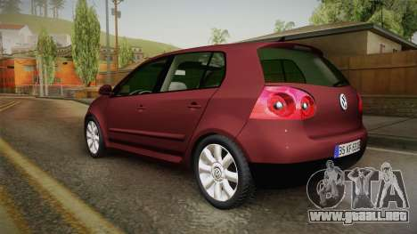 Volkswagen Golf Mk5 para GTA San Andreas left