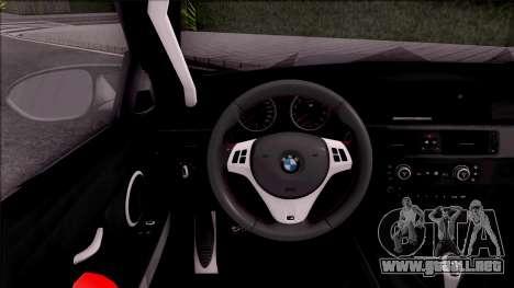 BMW M3 E92 Liberty Walk Performance 2013 para visión interna GTA San Andreas