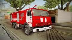 KamAZ 53212 camión de Bomberos en la ciudad de Arzamas para GTA San Andreas