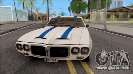 Pontiac Firebird Trans Am Coupe 1969 para GTA San Andreas