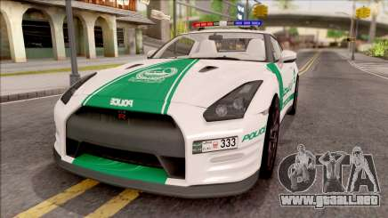 Nissan GT-R R35 Dubai High Speed Police para GTA San Andreas