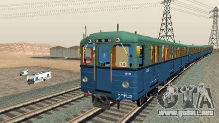 Metrostav tipo E para GTA San Andreas