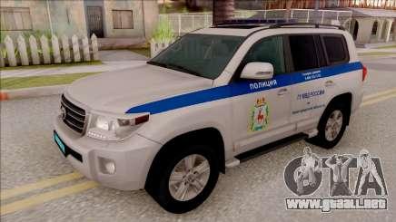 Toyota Land Cruiser 200 Russian Police para GTA San Andreas
