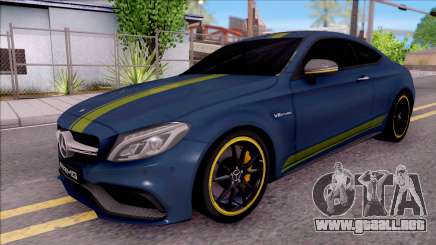 Mercedes-Benz C63S AMG Coupe 2016 v3 para GTA San Andreas