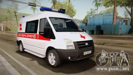 Ford Transit Ambulancia de la ciudad de Kharkov para GTA San Andreas