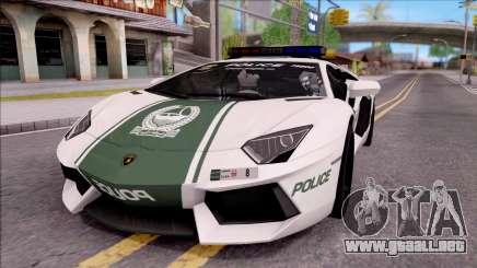 Lamborghini Aventador LP700-4 Dubai HS Police para GTA San Andreas
