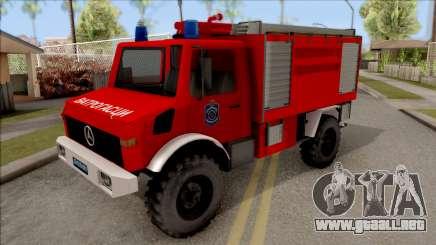 Mercedes-Benz Unimog Vatrogasna Kamion para GTA San Andreas
