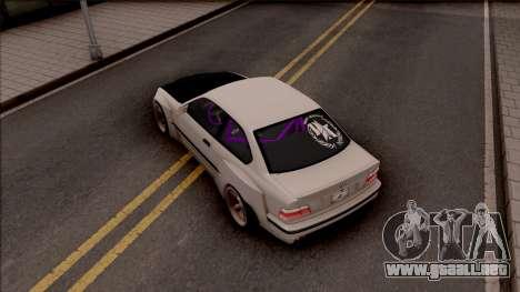 BMW M3 E36 Drift Rocket Bunny v4 para GTA San Andreas vista hacia atrás
