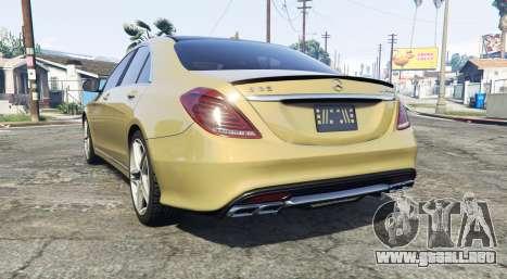 GTA 5 Mercedes-Benz S63 yellow brake caliper [replace] vista lateral izquierda trasera