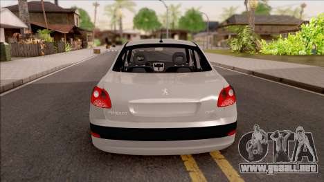 Peugeot 207 Passion para GTA San Andreas vista posterior izquierda