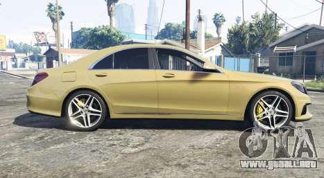GTA 5 Mercedes-Benz S63 yellow brake caliper [replace] vista lateral izquierda