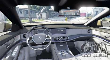 GTA 5 Mercedes-Benz S63 yellow brake caliper [replace] vista lateral trasera derecha