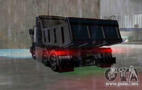 KAMAZ 65115 NEGRO DE LA NOCHE para GTA Vice City vista lateral izquierdo