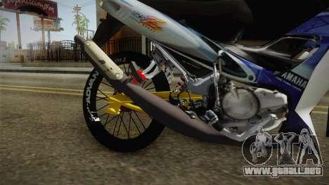 Yamaha 125Z Alloy Black para GTA San Andreas vista hacia atrás