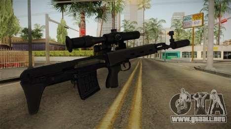 El arma de la Libertad v2 para GTA San Andreas segunda pantalla