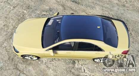 GTA 5 Mercedes-Benz S63 yellow brake caliper [replace] vista trasera