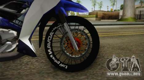 Yamaha 125Z Alloy Black para visión interna GTA San Andreas