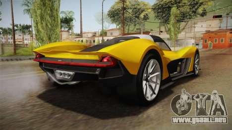 GTA 5 Dewbauchee Vagner para GTA San Andreas vista posterior izquierda