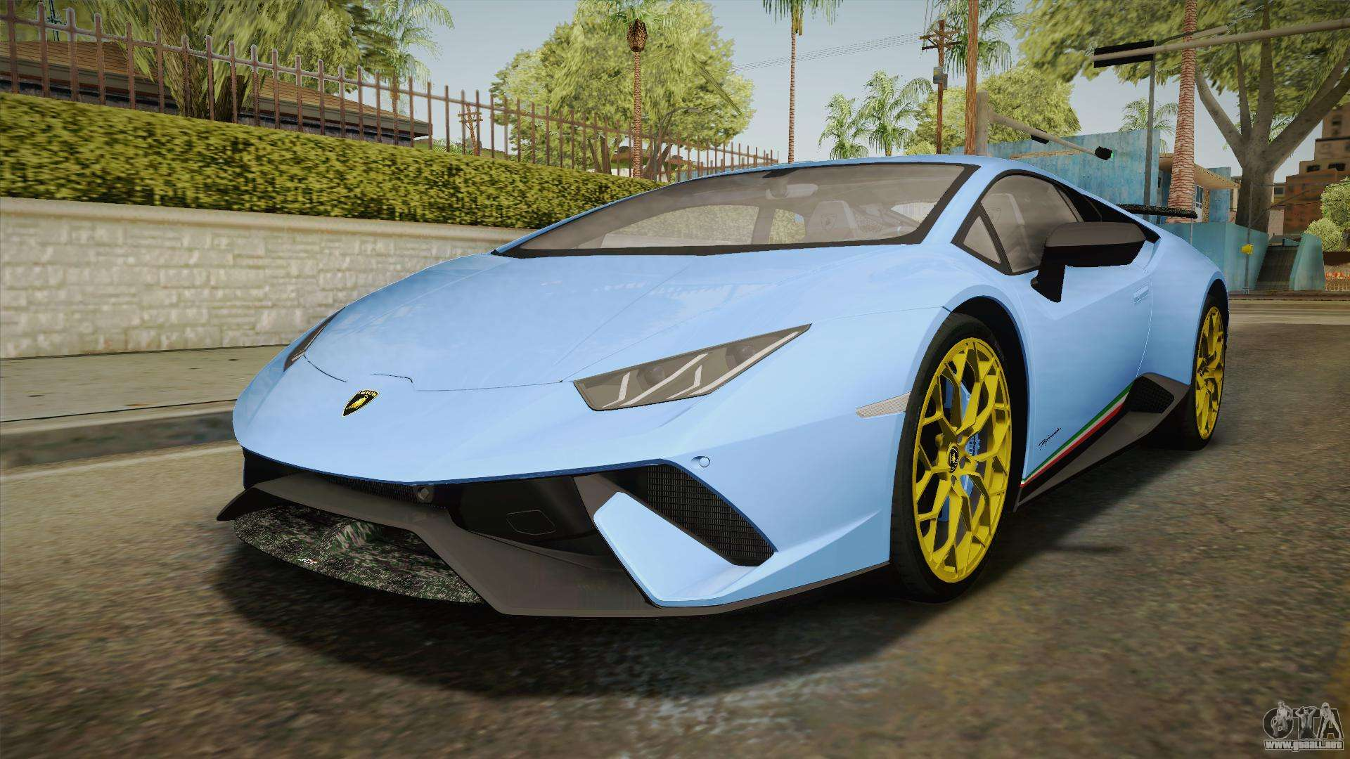 lamborghini huracan performante lp640 4 2017 v2 para gta san andreas. Black Bedroom Furniture Sets. Home Design Ideas