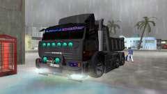 KAMAZ 65115 NEGRO DE LA NOCHE para GTA Vice City