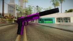 Purple Silenced Pistol para GTA San Andreas