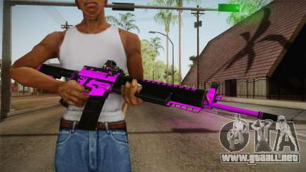 Purple M4A1 para GTA San Andreas