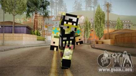 Minecraft Swat Skin para GTA San Andreas