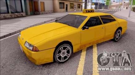 Elegy Taxi Stock para GTA San Andreas