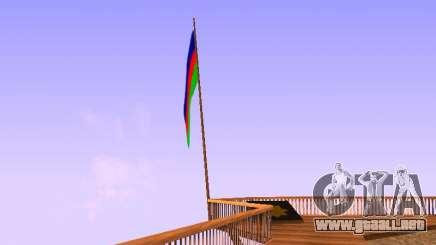 Azerbaijan Flag on Mount Chiliad para GTA San Andreas