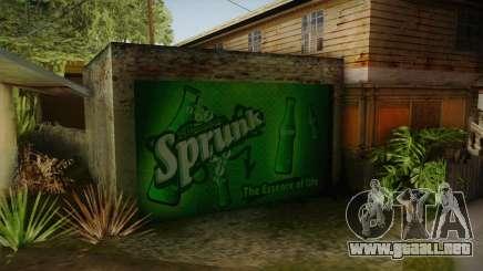 New CJ House Garage para GTA San Andreas