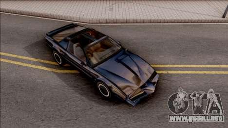 Knight Rider KITT 2000 para la visión correcta GTA San Andreas