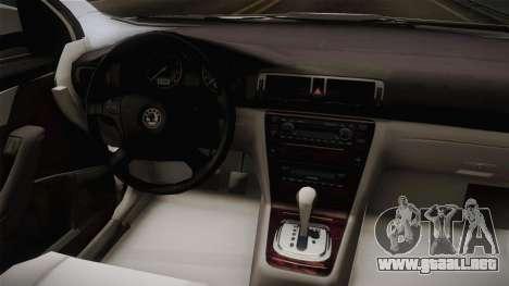 Skoda Octavia Police para visión interna GTA San Andreas