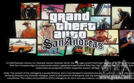 Loadscreens Remastered (HD) para GTA San Andreas