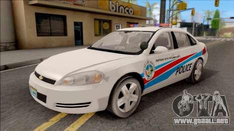 Chevrolet Impala Las Venturas Police Department para GTA San Andreas