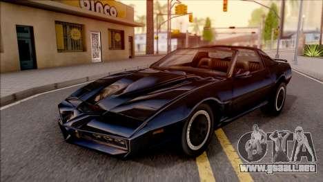 Knight Rider KITT 2000 para GTA San Andreas