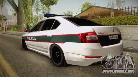 Skoda Octavia Police para GTA San Andreas left