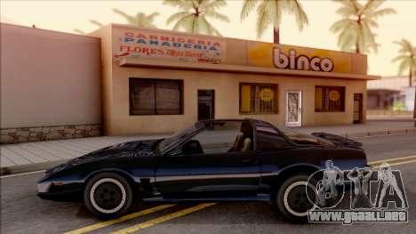 Knight Rider KITT 2000 para GTA San Andreas left