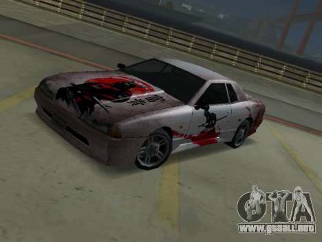 New Elegy Paintjob Samurai para GTA San Andreas left
